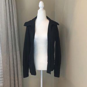 Lululemon Black zip up workout jacket GUC